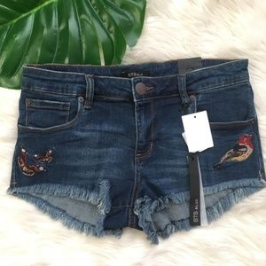STS Blue Shorts - STS Blue Embroidered Cutoff Denim Shorts Mansfield